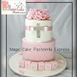 Hermosas Tortas Para Bautizo Para 40 Porciones A Solo S/.150