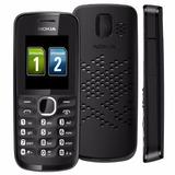 Celular Nokia 110 Preto C/ Dual Chip, Câm Vga, Bluetooth,fm