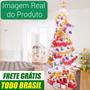Árvore De Natal Pinheiro Branco 1,8 Metro Decorada 127v