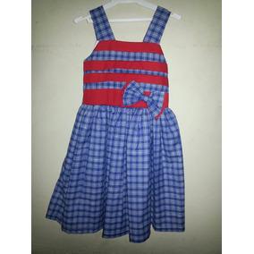 Vestido Casual - Fiesta Para Niñas De Cuadros
