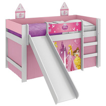 Cama Princesas Disney Play Com Escorregador Pura Magia