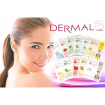 Mascarillas Coreanas Dermal Muchos Ingredientes Vino Aloe Te