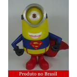 Minions Homem De Aço Superman Boneco 20cm Pronta Entrega
