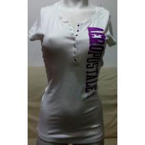 Camiseta Feminina Aeropostale Branca Mod.5884 Original Usa