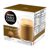 Kit: 10 Cafe Soluvel Dolce Gusto Cafe Au Lait 16 Saches