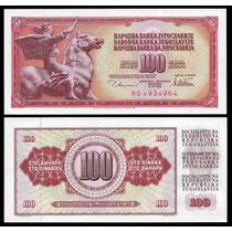 Yugoslavia Billete De 100 Dinara Año 1978 Sin Circular