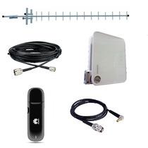 Kit Rural Wifi Huawei | Modem 3g Antena 15dbi Cabos Pigtail