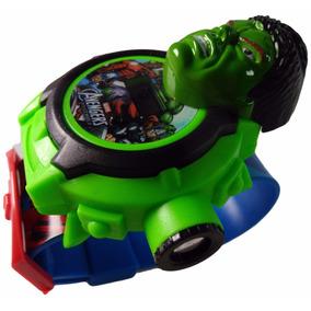 Relógio Hulk Infantil Com Projetor De Imagem Os Vingadores