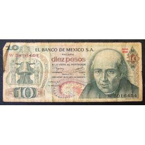 Billete De Colección De México 10 Pesos De Hidalgo Año 1977