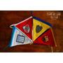 Banderines De Tela Temáticos Cuadros De Futbol Dia Del Niño