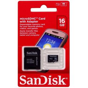 Cartão De Memória Micro Sd 16gb Galaxy/moto G/samsung/lg