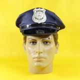 Quepe Policial Azul Luxo   Quepe Militar De Policial 0a7998e722e