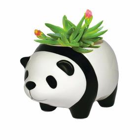 Maceta Para Plantas De Ceramica Panda Envio Gratis