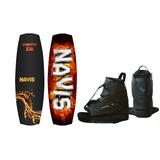 Prancha Wakeboard Gasolina 136 Navis + Bota Para Wake 095