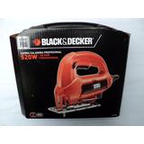Sierra Caladora Black And Decker En Estuche 520 W. Linea Pro