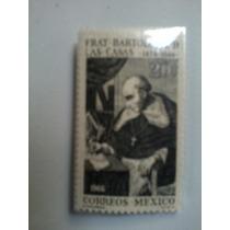 Fray Cristobal De Las Casas 20 Centavos Mexico Timbre Postal