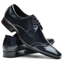 Sapato Social Em Couro Bico Fino Preto
