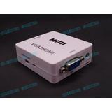 Convertidor Vga A Hdmi Con Audio Laptop Pc A Tv