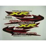Kit Jogo Adesivo Faixa Moto Xr Tornado 2005 05 Vermelha 666