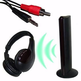 Fone Ouvido Sem Fio 5x1 Wireless Smart Tv Pc Note Skype Dvd