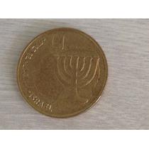 1412 - 1 Rara Magnifica Moeda De Israel 10 Agorot - 1998