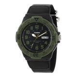 Reloj Análogo Verde De Buceo, Mrw-200hb-1bv