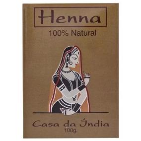 Henna Para Cabelos Ruivos Indiana Casa Da India 100% Natural