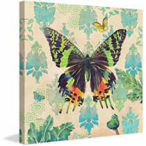 Madagascar Sunset Butterfly 2 Painting Print On Canvas By