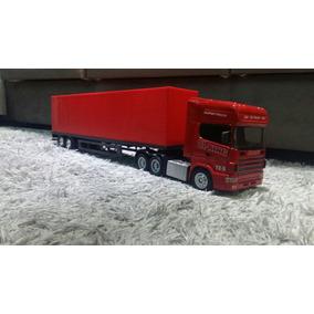 Caminhão De Controle Remoto Scania Carreta Bau