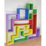Mueble En Modulos, Bloques Tetris, Estanteria, Repisa