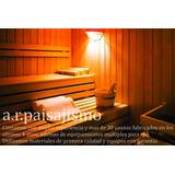 Sauna Tipo Finlandes Calefactor Para 2 Pers Seco Madera Spa