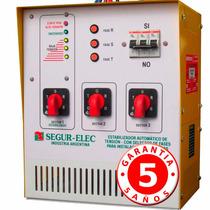 Elevador De Tensión Con Selector Trifásico 16 Kw Segur-elec