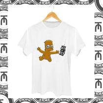 Camiseta Bart - Nirvana - Os Simpsons - Bart Capa Nirvana