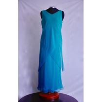 Vestido Largo Fiesta Azul Aqua