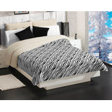 Cobertor Con Borrega King Size Cebra Concord