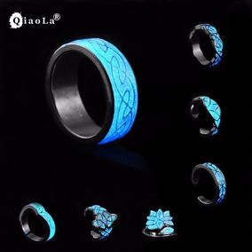 Anel Luminoso Brilha No Escuro Prata E Azul Vários Modelos