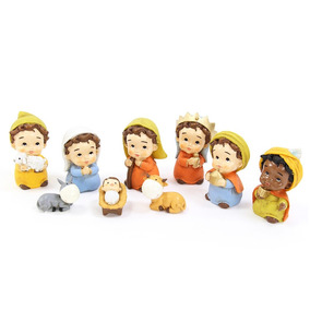 Nacimiento De Navidad Con 9 Figuras De Poliresina
