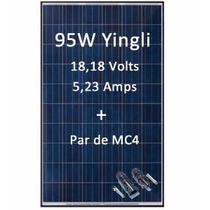 Painel Solar Yingli Yl095p-17b Policristalino 95w + Par Mc4