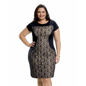 Vestido Tule Renda Moda Evangelica Plus Size #43