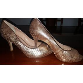 Sandália Sapato Peep Toe Luz Da Lua Linda