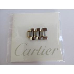 Eslabones Para Reloj Cartier Modelo Must Acero-oro Escasos