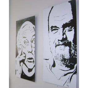 Cuadros Fontanarrosa Eduardo Galeano- Retratos