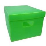 Caixa Organizadora Ext G 485x335x200mm Verde- Polibras