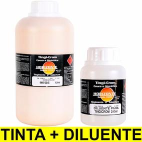 Tinta Bege + Diluente Couro Banco Carro Automotivo 1 Litro