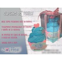 Cupcake De Toalla Recuerdito Para Baby Shower, Despedida,etc
