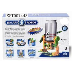 Juego Solar Con Motor Y Panel Solar - Nivel Medio Robot Lata