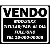 Calco Cartel Vendo Auto Moto Etc En Vinilo 20x20 Aprox X3