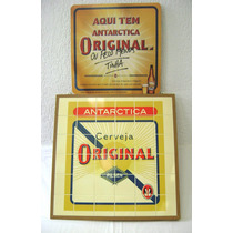 Quadro + 02 Displays + Brinde Cerveja Antarctica Original