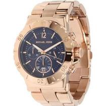 Relógio T6719 Michael Kors Mk5410 Rose Azul + Garantia