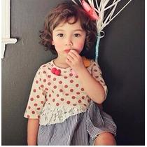 Vestido De Punto Para Niña Hermoso (dots),envio Gratis